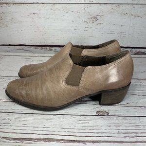 Munro Womens Leather Ankle Boots Tan Color Size 8